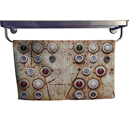 Cotton Beach Towel, Old Switching Panel Authentic AnBroken Engine Ctrol Tools ,Absorbent, Machine Washable, Towel W 27.5
