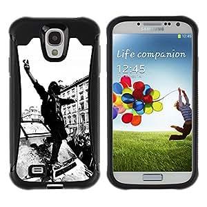 ZAKO Cases / Samsung Galaxy S4 I9500 / Anonymous Rito Fight / Robusto Prueba de choques Caso Billetera cubierta Shell Armor Funda Case Cover Slim Armor