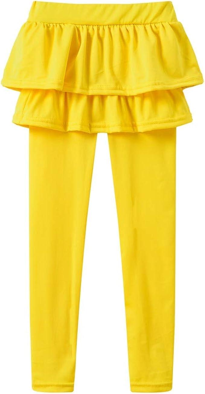 QinMM Pantalones de Baile de bebé niña 1-7 años con Volantes ...