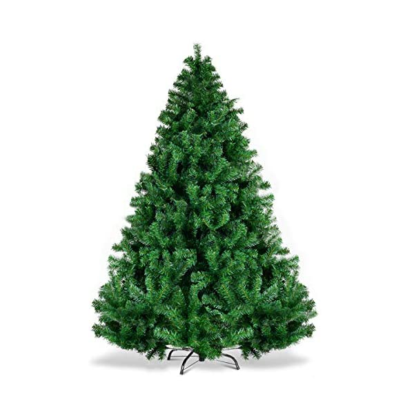 Goplus-Christmas-Tree-Artificial-Premium-Hinged-Spruce-Full-Tree-with-Solid-Metal-Stand