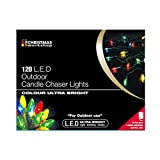 The Christmas Workshop 120 LED Candle Chaser String Lights, Multi-Coloure