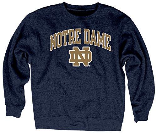 Blue 84 Notre Dame Fighting Irish Adult Arch Logo Classic Crewneck - Navy
