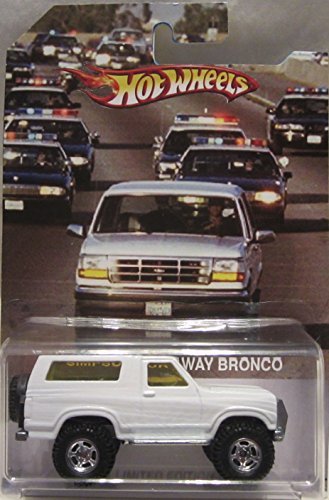 Bronco Wheels - Hot Wheels CUSTOM OJ Simpson Run Away '85 FORD BRONCO Real Riders Rubber Wheels Limited Edition 1/25 Made!