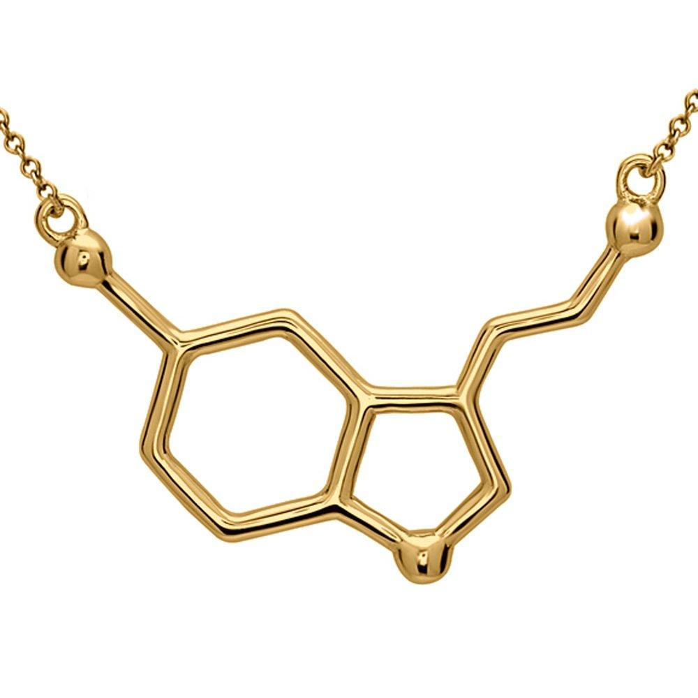 977e28d171fa9 Silver Phantom Jewelry Serotonin Molecule Necklace in 925 Sterling Silver