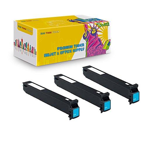 New York TonerTM New Compatible 3 Pack TN210C 8938-508 High Yield Toner for Konica-Minolta : BizHub C250 | C252. (Bizhub C250 Cyan Toner)