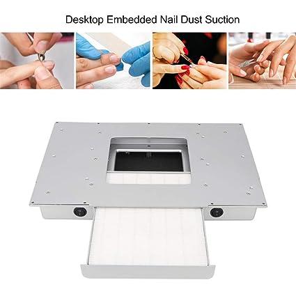 Amazon.com: VTNAILS 48W mesa incrustada polvo de las uñas de ...