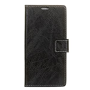 LussoLiv For Motorola Moto E4 (US Version ) Retro Crazy Horse Texture Horizontal Flip Leather Case with Holder & Card Slots & Wallet & Photo Frame (Black)