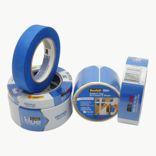 3M Scotch-Blue 2090 Safe-Release Crepe Paper Multi-Surfaces Painters Masking Tape, 27 lbs/in Tensile Strength, 60...