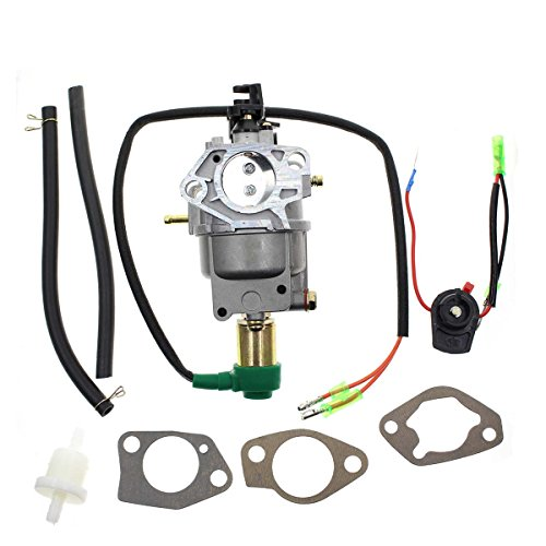 AUTOKAY Generator Carburetor Assembly w/solieoid Gaskets for UST GG5500 GG7500N JF182
