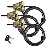 Master Lock - Python Adjustable Camouflage Cable Locks #8418KA CAMO 3-Pack