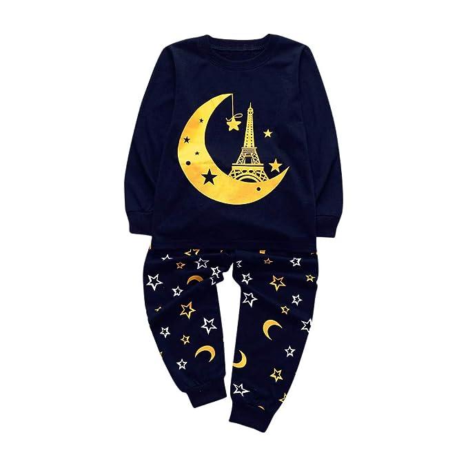 Ropa de Bautizo, ❤ Zolimx Niños Recién Nacidos Bebé Mangas Largas de Dibujos Animados Animal Imprimir Tops + Pantalones Newborn Baby Clothes Conjuntos: ...