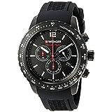 Wenger Men's 01.0853.109 Roadster Analog Display Swiss Quartz Black Watch