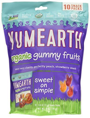 YumEarth Organic Easter Candy Gummy Bears, 6 Ounce