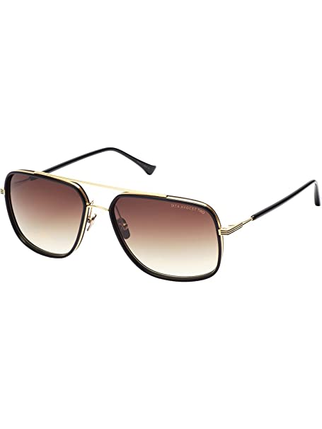 acebd1bf7134 Dita Avocet Two 2 Sunglasses 21009B Black Shiny 18K Gold   Brown to Clear  w  AR  Amazon.ca  Clothing   Accessories