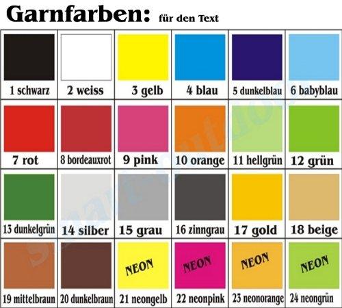 14x5cm smartoutdoor Rechteckiger Aufn/äher Rec1 f/ür deinen Wunschtext - personalisiert viele Farben und Gr/ö/ßen