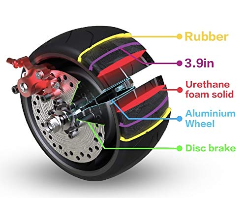 Mercane WideWheel Electric Scooter Replaceable Wheels (2 WideWheel Replaceable Wheels)
