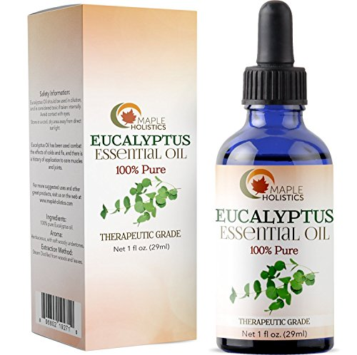 Eucalyptus Aroma - 100% Pure Eucalyptus Essential Oil for Diffuser and Aromatherapy Undiluted Therapeutic Grade Premium Healing Antibacterial and Decongestant for Breathing Support Promotes Relaxation and Pain Relief