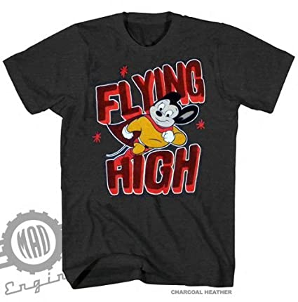 633c9728a2f Mighty Mouse Flying High Charcoal Heather Licensed T-Shirt S-2XL (AJSHEARS)