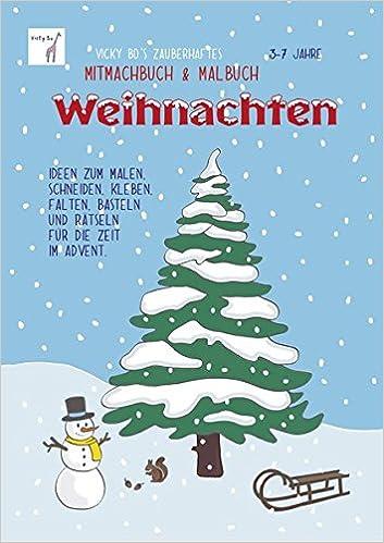 Vicky Bo S Zauberhaftes Mitmachbuch Malbuch Weihnachten Ideen