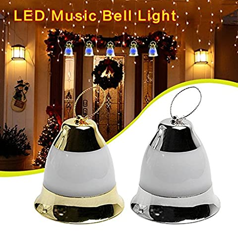 Jhua LED Christmas Decoration Music Jingle Bell Lights Fairy Lights Powered by Battery with Merry Christmas Music for Indoor/ Outdoor/ Garden/ Home/ Christmas Tree/ Party - Jingle Bell Lights