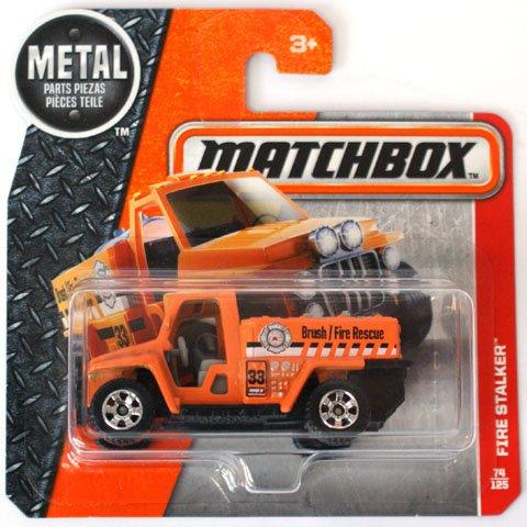 Match Truck - Matchbox 2017 74/125 Heroic Orange Fire Stalker Brush Fire Truck