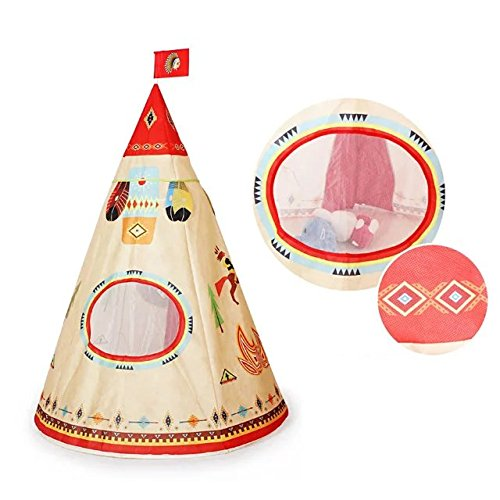 coreliky-indian-kids-game-playhouse-for-indoor-outdoor-portable-kids-teepee-tent-41x63