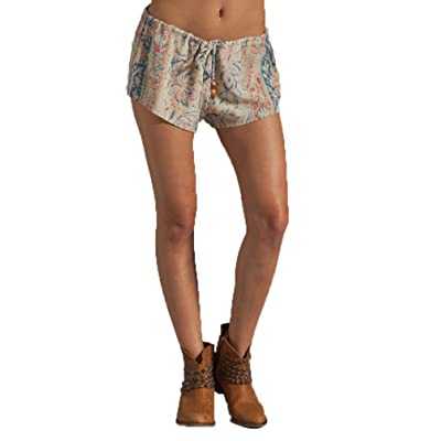 Chaser Vintage Tapestry Silk Drawstring Shorts in Large