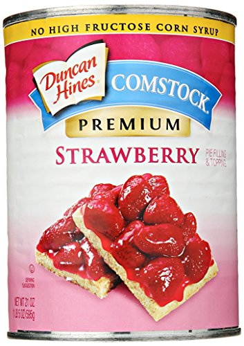 Comstock Premium Pie Filling & Topping, Strawberry, 21 (Comstock Fruit)
