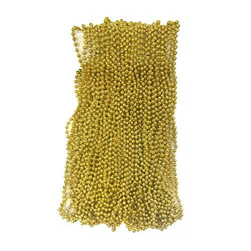 Yellow Mardi Gras Beads (Gold Mardi Gras Beads 33 inch 7mm, 6 Dozen, 72)