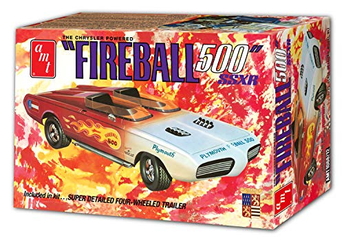 AMT AMT1068 1: 25 George Barris Fireball 500 in Commemorative Packaging, Red/White