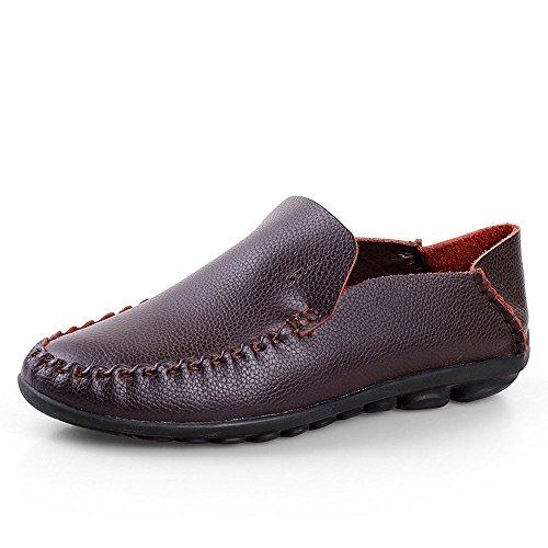 Marrón Hombres de de Zapatos Hombres Respirables para Casuales para conducción Zapatos Cuero xPq7qwZ