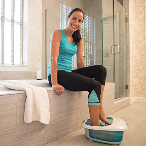 HoMedics Foot Salon Pro Footbath with Heat Boost Power | Massaging Vibration, 4 Pedicure Spa Attachments, Splash Guard | Soothe Tired Muscles, 4 Pressure Node Rollers, Built-In Storage