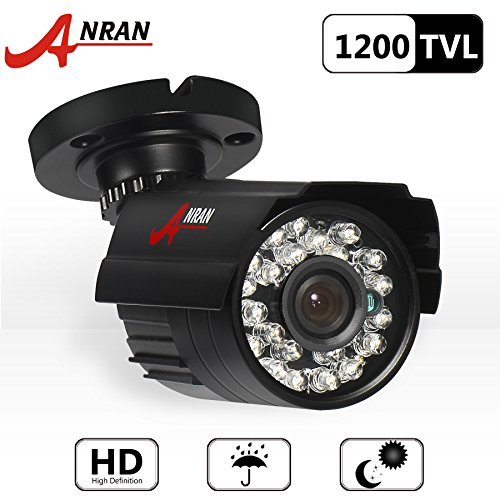 ANRAN 1200TVL 960H 24IR LEDs Surveillance CCTV Camera with High Resolution Night Vision Security Outdoor Waterproof Bullet Camera
