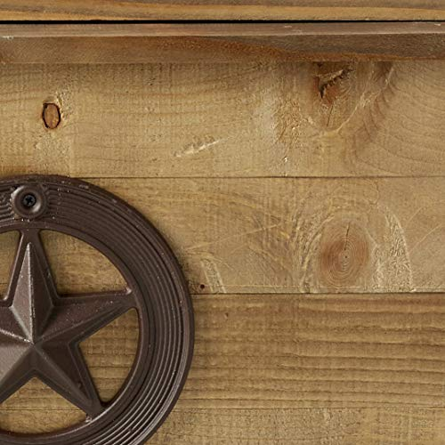 Backyard Expressions 913284 Decorative Outdoor Wooden Cooler 87 Quart Brown