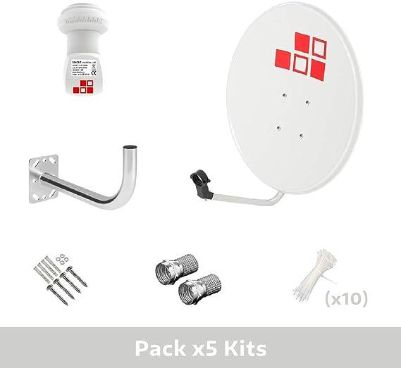 LNB Diesl.com Soporte Pack 5 Kits Parab/ólica 80cm