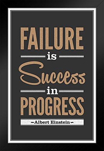 ProFrames Albert Einstein Failure Is Success In Progress Quote Framed Poster