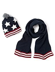 Abcd'r Boys Scarf And Pompom Hat Set
