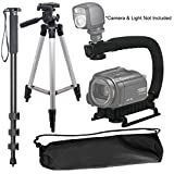 "Camera Support Bundle For: Pentaxist D,ist DL,ist DL2,ist DS,ist DS2, 645D, 645Z, EI-2000, K-01, K-1, K100D Digital SLR: Pro 50"" Tripod, 72'' Monopod & Vertical Grip"