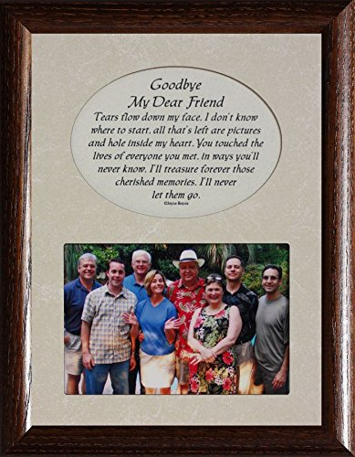 PersonalizedbyJoyceBoyce.com Goodbye My Dear Friend Picture & Poetry Memorial/Bereavement Keepsake Photo Frame (Walnut)