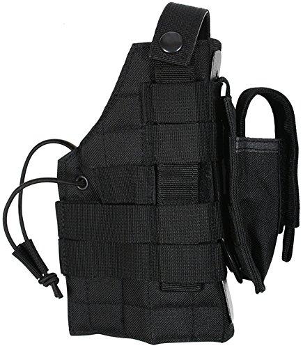 (MOLLE Modular Ambidextrous Pistol Gun Holster in Black)