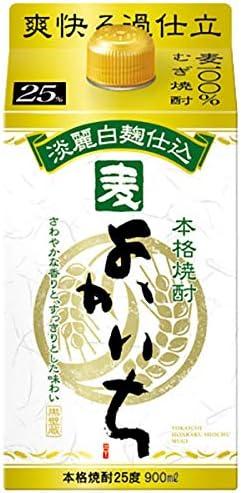本格焼酎 よかいち 麦 25度 [紙パック] 900ml x 6本 (ケース販売) [宝酒造/日本/宮崎県]