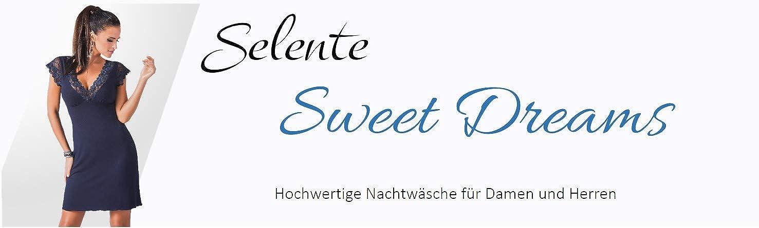 Made in EU. Benda per Occhi in Raso Inclusa Dettagli in Pizzo Selente Sweet Dreams Elegante Camicia da Notte//neglig/é//Vestaglia