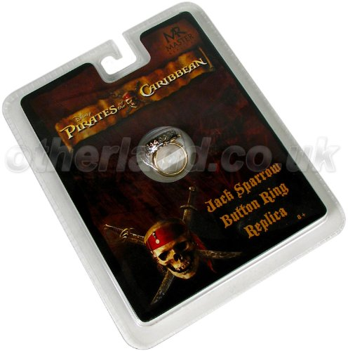 Deluxe Adult Costumes - Men's Pirate of the Caribbean Jack Sparrow onyx button ring replica