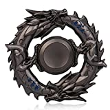 Aribelly Tri Hand Spinner Finger Fidget Hybird Bearing Gyro Dark Souls Dragon (Black)