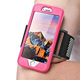 iPhone 8 Armband, SUPCASE Easy Fitting Sport Running Armband Case with Premium Flexible Case Combo for Apple iPhone 7 2016/iPhone 8 2017 (Pink)