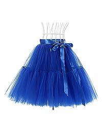 Drasawee Women 5 Layers Ballet Skirt Crinoline Petticoat Tutu Dress Underskirt