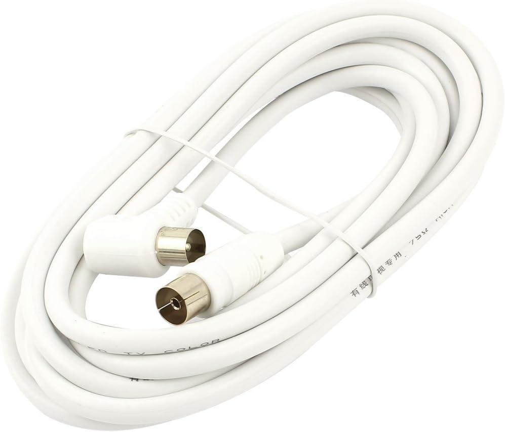 Hembra a macho ADSL TV coaxial de antena de extensión de 10 pies de cable RF Blanco: Amazon.es: Electrónica