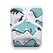 Thirsties Reusable Cloth Diaper, One Size Pocket Diaper, Snap Closure, Mountain Bike