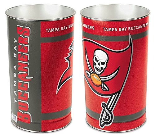 Tampa Bay Buccaneers 15 Waste Basket - Licensed NFL Football Merchandise