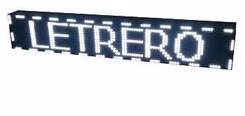 PANTALLA LED PROGRAMABLE LETRERO LED PROGRAMABLE CARTEL LED PROGRAMABLE ROTULO LED PROGRAMABLE (96 * 16 cm, BLANCO) PROGRAMMABLE LED SIGN PROGRAMMABLE ...